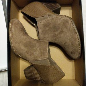 Taupe/Brown Suede Booties